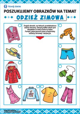 Rozwijamy uwagę: poszukujemy odzieży zimowej