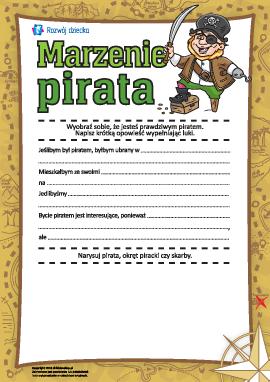 Marzenie pirata: uzupełniamy historię i rysujemy