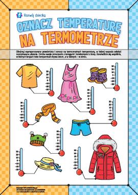 Oznaczamy temperaturę i wybieramy ubranie