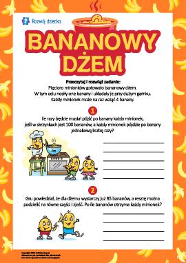Bananowy dżem: liczymy i analizujemy