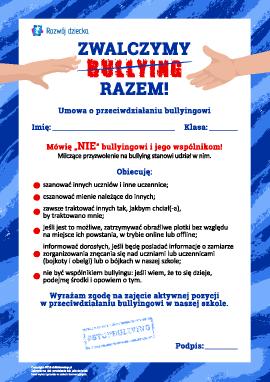 Zawieramy umowę o przeciwdziałaniu bullyingowi