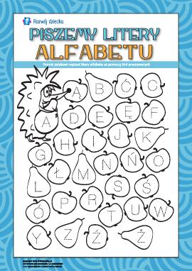 Piszemy drukowane litery alfabetu polskiego