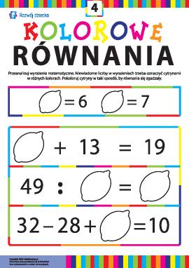 Kolorowe równania nr 4