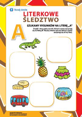 """Poszukujemy nazw obrazków na literę """"A"""" (alfabet polski)"""