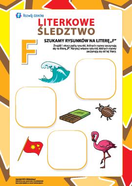 """Poszukujemy nazw obrazków na literę """"F"""" (alfabet polski)"""