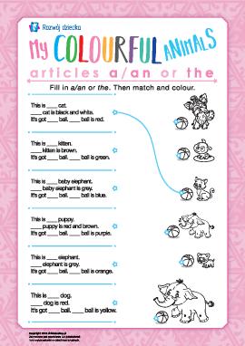 Uczymy się używania przedimków a/an і the (język angielski)