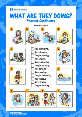 Uczymy się Present Continuous (język angielski)