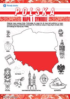 Uczymy się mapy i symboli Polski