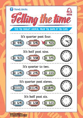 Uczymy się określania czasu (język angielski)
