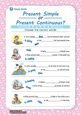 Rozróżniamy Present Simple і Present Continuous (język angielski)