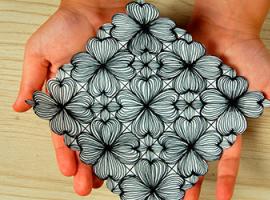Tworzymy symetryczny wizerunek z kwiatami