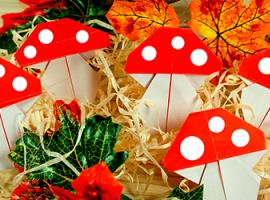 Muchomory w technice Origami: stwórz jesienny nastrój