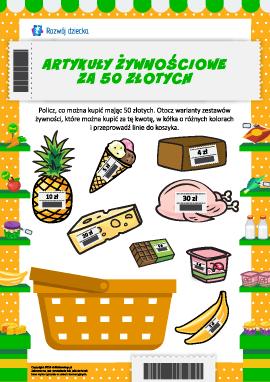 Żywność za 50 złotych: wybieramy, co można kupić