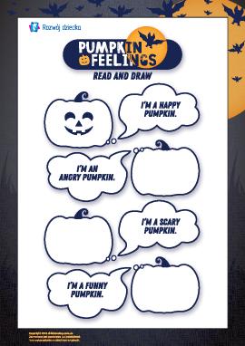 Rysujemy twarze dyniom: Halloween (w języku angielskim)