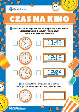 Czas na kino: oznaczamy czas na zegarku