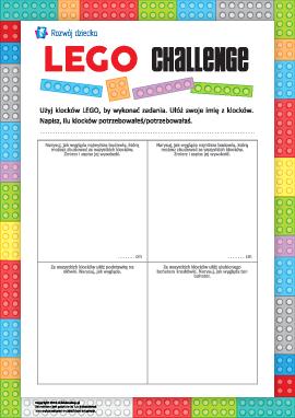 LEGO challenge: wykonujemy zadania