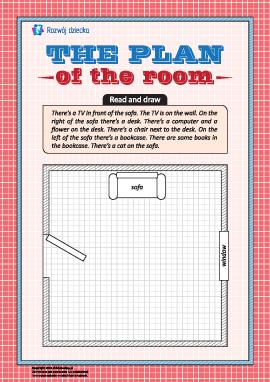 Rysujemy plan pokoju według instrukcji (w języku angielskim)