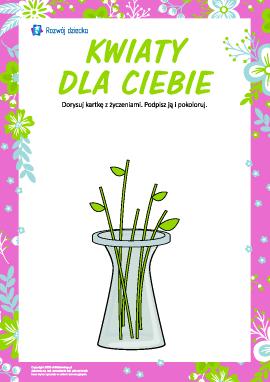 Kwiaty dla Ciebie: rysujemy kartkę