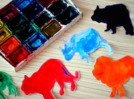 Realistyczne sylwetki zwierząt — po prostu obramowujemy cień