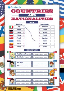 Nazwy krajów i narodowości (język angielski)