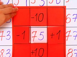 Plakat matematyczny: uczymy się dziesiątków i jedności