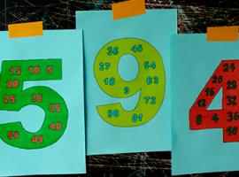 Uczymy się iloczynów liczb: kolorowanka i powtórka
