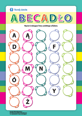 Alfabet: uczymy się liter