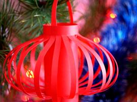Papierowa lampa — piękna ozdoba dla domu