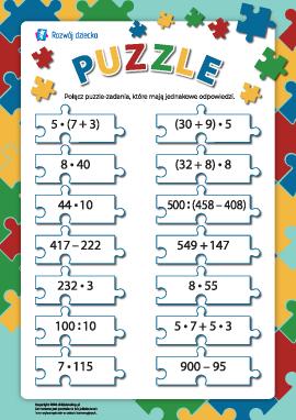 Puzzle: rozwiązujemy zadania